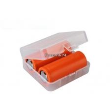 Кейс (органайзер) для  2 аккумуляторов 26650