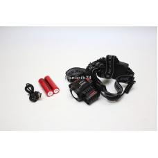 Фонарь налобный HL-8046 (1+2 диода)