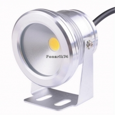 Фара светодиодная 1 LED 10w 12v (теплый свет)