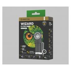Фонарь налобный  Armytek Wizard C2 PRO MAX XHP70.2 Magnet USB + 18650 на белом диоде