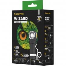 Фонарь налобный  Armytek Wizard C2 PRO XHP50.2 Magnet USB + 18650 на белом диоде