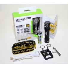 Фонарь налобный  Armytek Wizard Pro v3 Magnet USB + 18650 на белом диоде XHP50