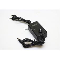 Блок питания 12v 1A с дисплеем и регулятором для вентилятора (v3)